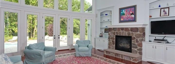 European Builders Family room with windows