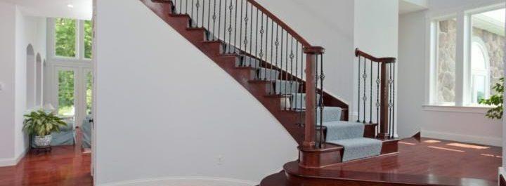 entry stairway remodel