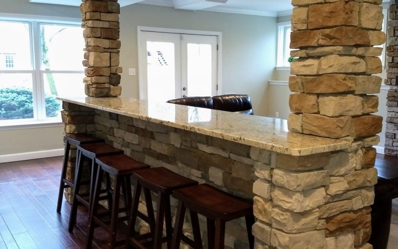 dining bar in new home
