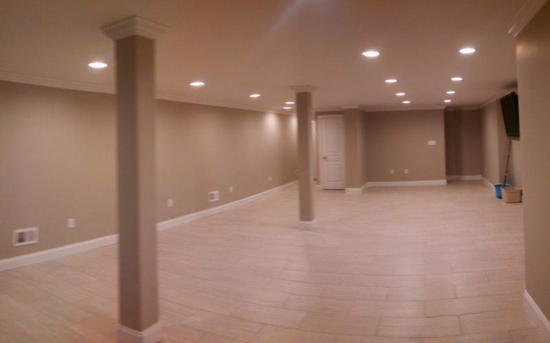 before basement renovation