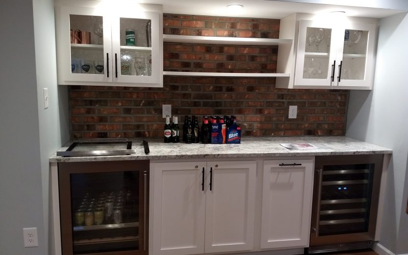 bar in finished basement
