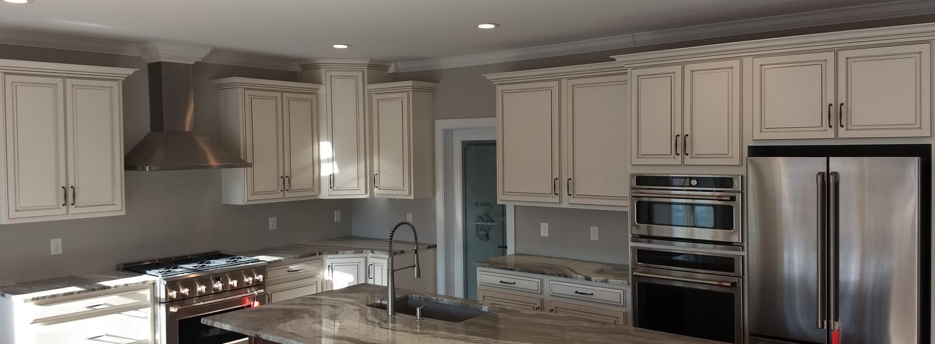 kitchen in the process of a remodel