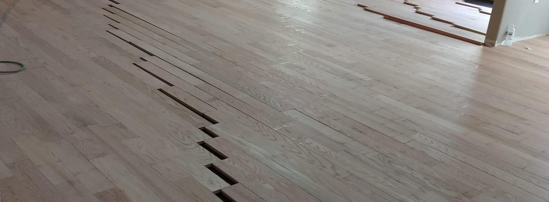 replacing wood flooring in main living area